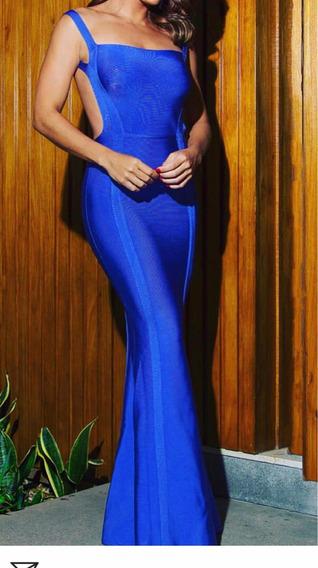 Vestido Azul De Bandagem