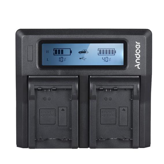 Andoer Np-fw50 Npfw50 Display Lcd De Carregador De Bateria