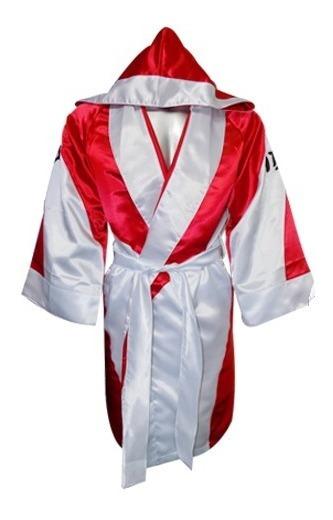Bata Para Box Satinada Rojo Marino ¡envio Gratis!