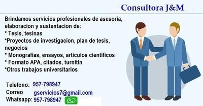 Tesis, Ensayos, Monografias, Articulo, Tesina, Spps, Apa