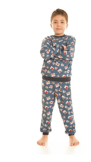 Pijama Niño 100% Algodon Estampado