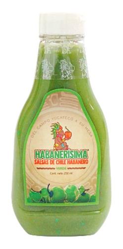 12 Pzas Salsa De Chile Habanero Habanerísima Verde De 250 Ml