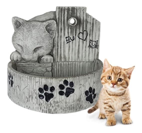 Bebedouro Para Gato Fonte De Água Diversas Cores Pet Resina