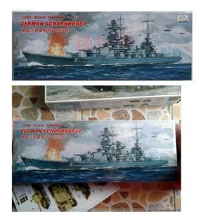 Maqueta Del Scharnhorst, 1/700, En Caja. Jp