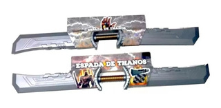 Espada Thanos Doble De Pvc 1 Metro De Largo