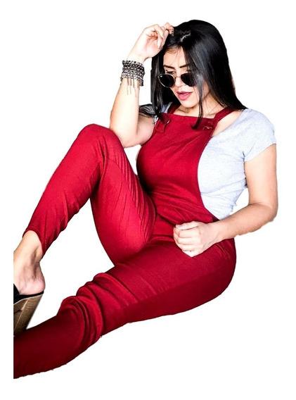 Macação Jardineira Bengaline Blogueira Longo Ref 063