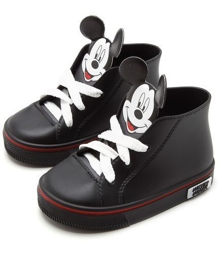 Tênis Infantil Grendene Kids Menino Botinha Mickey - Preto