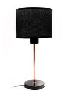 Velador Moderno Pantalla Metal Base Plástico Redonda Cuotas