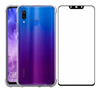 Funda Huawei Series Nova P Y Mate Protector Uso Rudo Transparente Case Tpu Acrílico + Mica Cristal