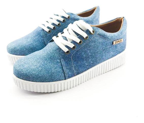 Tênis Creeper Quality Shoes Feminino 007 Jeans