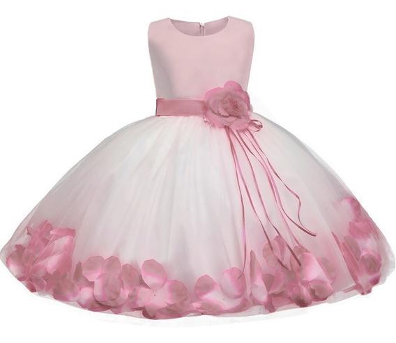 Hermoso Vestido De Bebe Niña Modelo Flores Fiesta #2