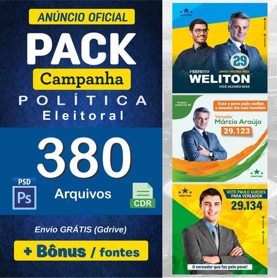 Pack Eleições Políticas - Campanha 2020 (psd/cdr)