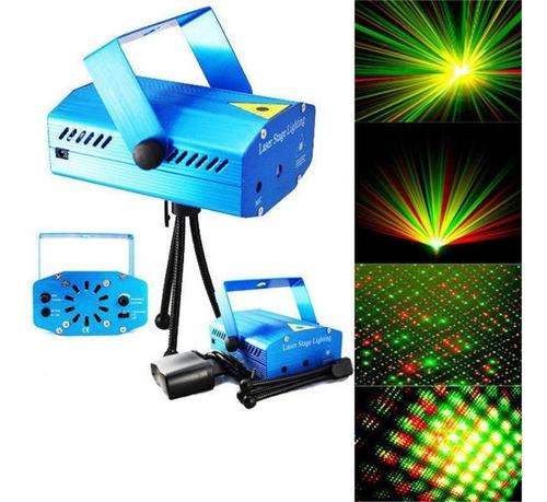 Imagen 1 de 2 de Mini Proyector Lluvia Laser Audio Rítmico  Luces Fiesta