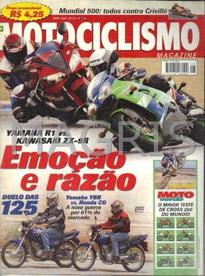 Frete Grátis Motociclismo 4/2000 R1, Zx-9r, Cg 125, Ybr 125,