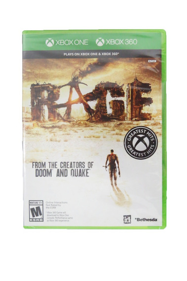 Rage Xbox 360 Midia Fisica Original Lacrado