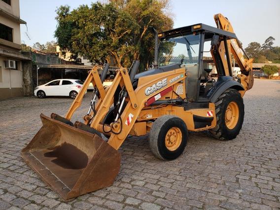 Retro Escavadeira Case 580 N 4x2 Ano 2013 C/ 3.893 Hs
