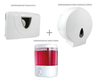 Dispensador De Toallas + Disp. De Papel + Disp. De Jabón
