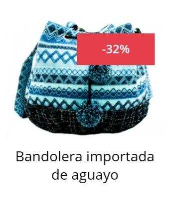Envio Gratis 32% Off!! Bandolera De Aguayo