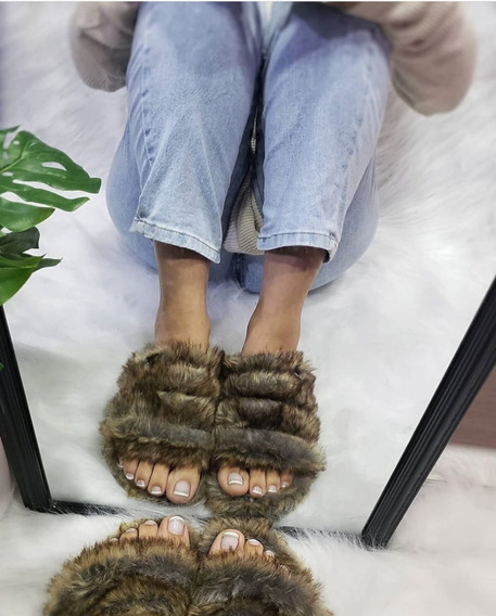 Pantuflas Mujer Peluche Baja Pasos Que Enamoran Original