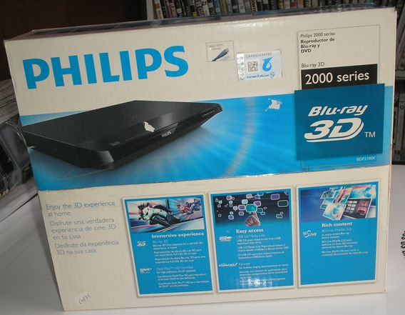 Blu-ray Philips Bdp2180k-55 Usb,karaokê Novo Na Caixa Raro