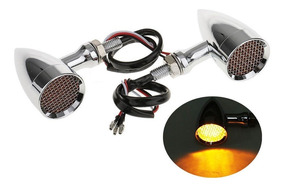 Exclusivíssimos Piscas Led Chrome Bullet Full Metal Grill