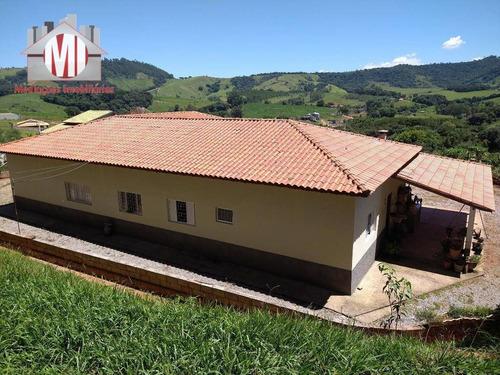 Chácara Maravilhosa Com 06 Dormitórios, Linda Vista, Espaço Gourmet À Venda, 1500 M² Por R$ 450.000 - Rural - Socorro/sp - Ch0663