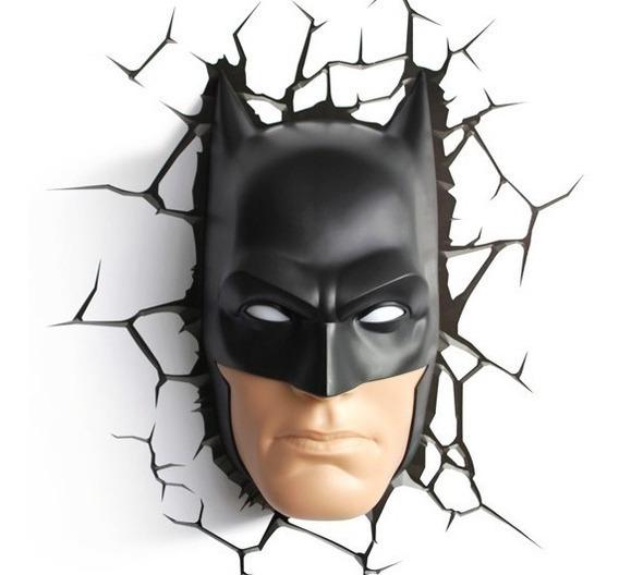 Lampara De Pare 3d Batman Máscara Envio Gratis