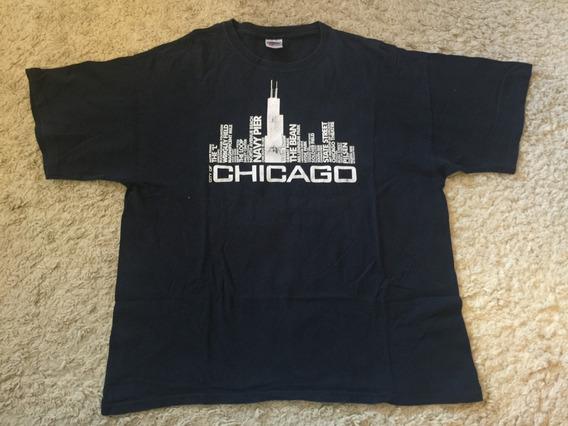 Camiseta Chicago Tamanho Gg Impecável Souvenir Importado Eua