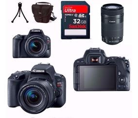 Câmera Canon Sl2+18-55+55-250 Stm+bolsa+32gb+tripé Rev.aut