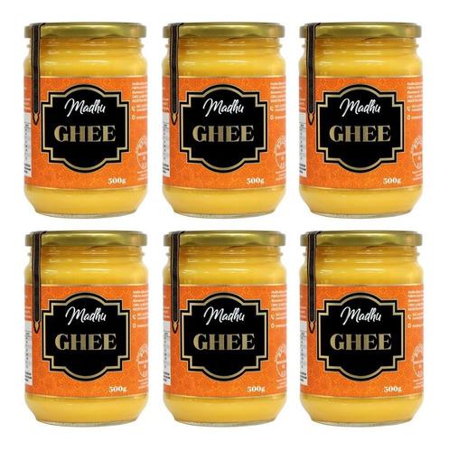 Imagem 1 de 2 de 6x Manteiga Ghee Clarificada 500g Zero Lactose Frete Grátis