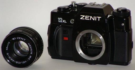 Máquina Fotográfica Zenit 12xl Com Capa De Couro - Da Russia