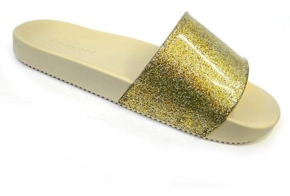 Chinelo Zaxy Snap Gaspea 17333 - Grendene - Dourado Glitter