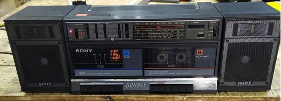 Rádio Gravador Sony Funcionando.