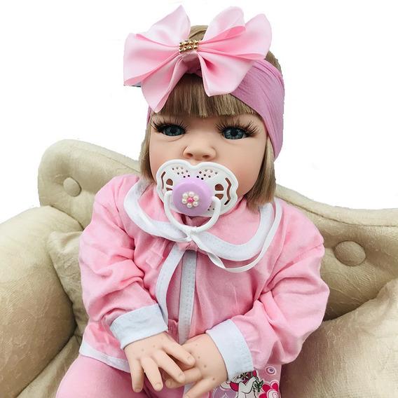 Boneca Bebe Tipo Reborn Completa Barata Com 17 Acessorios
