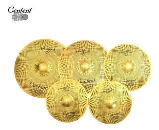 Set Platillos Centent Rvc Golden 14-16-18-20+ Funda Vmusic