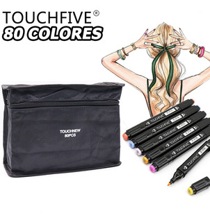 Set De Marcadores De Dibujo Doble Punta Touchfive 80 Colores