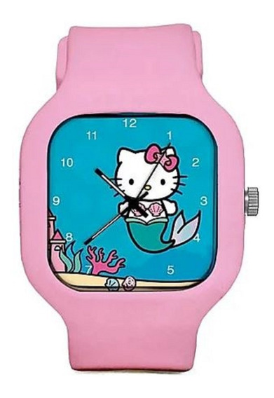 Relogio Hello Kitty Marmaid Troca Pulseiras Silicone