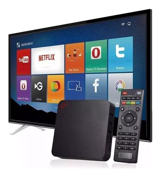 Smart Tv Aparelho Mini Pc Box 16g Android 8.1 Transforme Tv