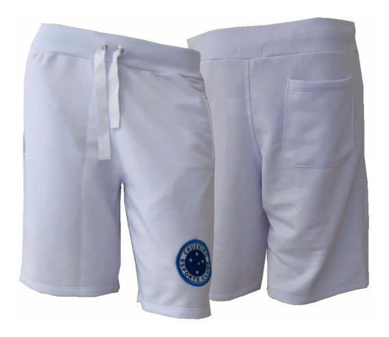Bermuda Masculina Cruzeiro Escudo Moletom Oficial Passeio
