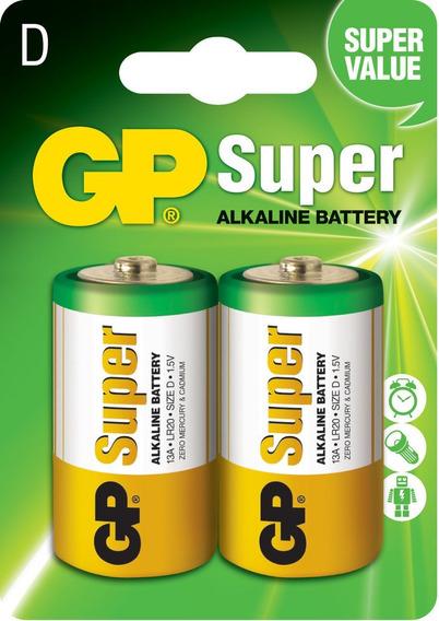 20 Pilhas Grande D C/2 Alcalina Gp Super 10 Cartelas C/2 Un
