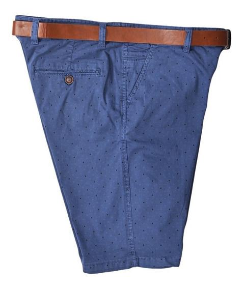 Bermuda Short Con Cinturón Casual Original