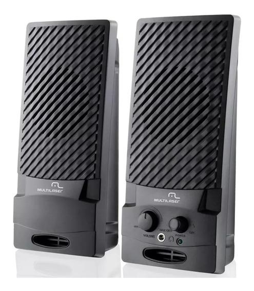 Caixa De Som 1w Rms Sp050 Estéreo Multilaser