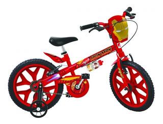 Bicicleta Infantil Aro 16 Bandeirante 2409 Homem De Ferro
