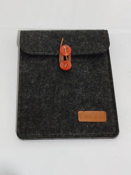 Capa Vintage Luxo Preto Envelope Botão Bambu Zimoon Serve Para Kindle - Novo Kindle - 10g - Paperwhite 1 2 3 E 4