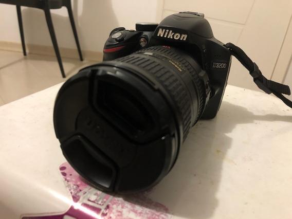Nikon 3200 + Lente 18-200 Mm + Cartão Memória 32 Gb + Case