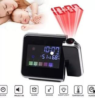 Reloj Led De Mesa Con Proyector-despertador