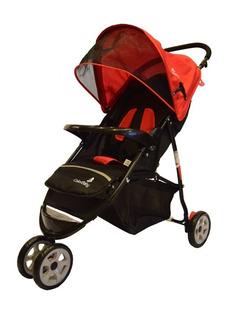 Carrinho De Passeio 3 Rodas Speed Color Baby Vermelho