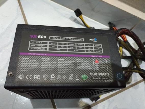 Fonte Aero Cool Vx500 Com Defeito