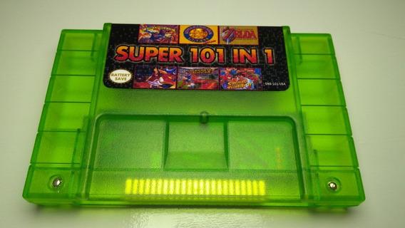 Cartucho Fita Super Nintendo Snes 101 Em 1 Ótima Seleção