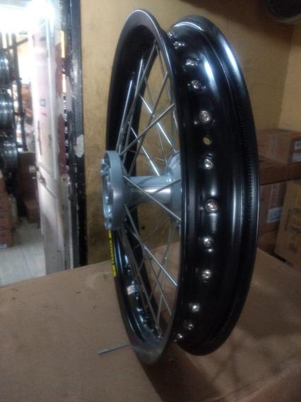 Roda Traseira De Lander / Tenere 250 Aro Preto Aluminio